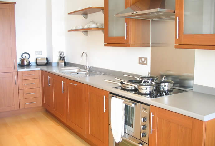 3 bedded serviced apartments kitchen